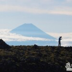 北岳肩稜望富士