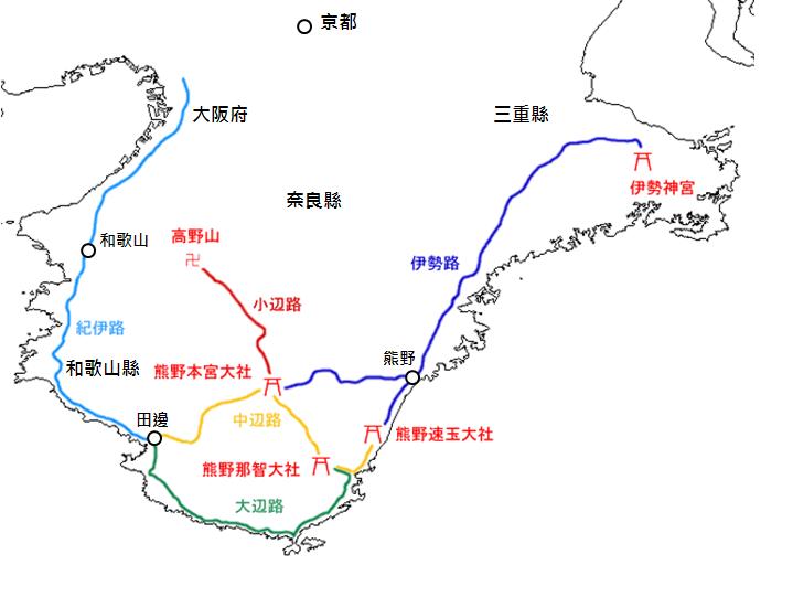 熊野古道簡圖