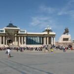 蒙古國總統府與成吉思汗廣場